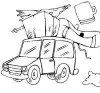 Disegno di Auto con bagagli da Colorare - Acolore.com