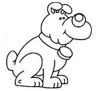 Disegno di Cane da Colorare