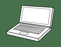 Disegno di Computer portatile da Colorare - Acolore.com
