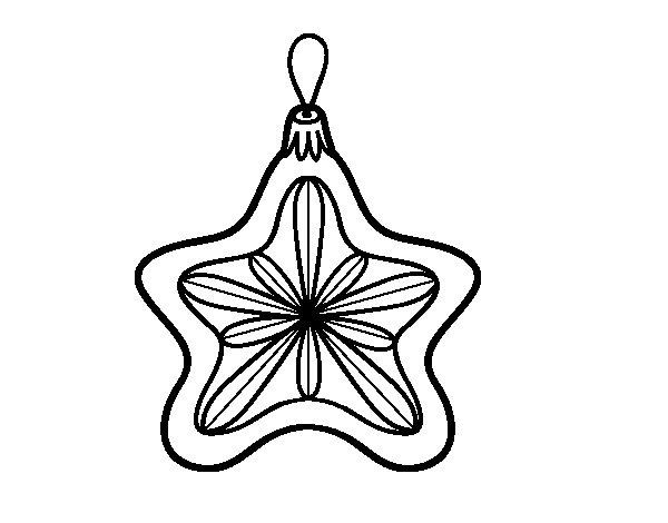 Disegno di Decorazione di Natale stella da Colorare