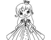 Disegno di La piccola principessa da Colorare - Acolore.com