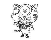 Disegno di Tigre Minion da Colorare - Acolore.com