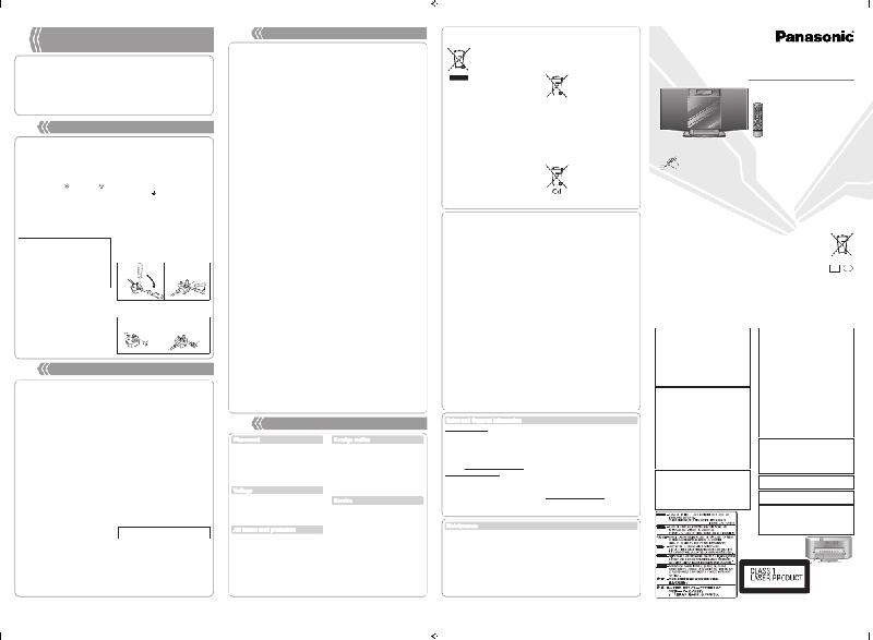 Panasonic SC-HC10 Stereo System Operating instructions PDF