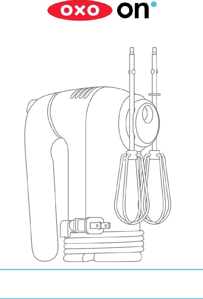 OXO 8710700 Hand Mixer User manual manual PDF View/Download