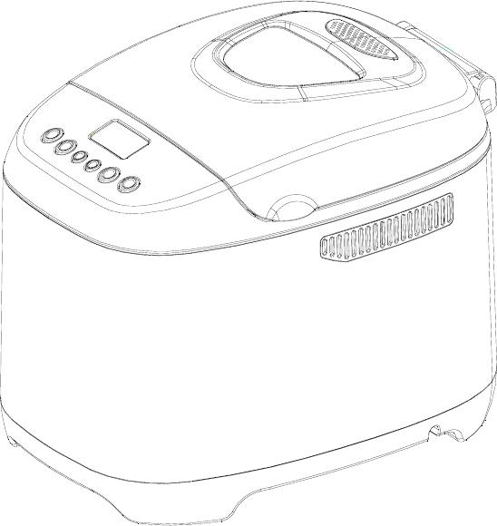 Midea AHS15BC-P Bread Maker Instruction manual PDF View