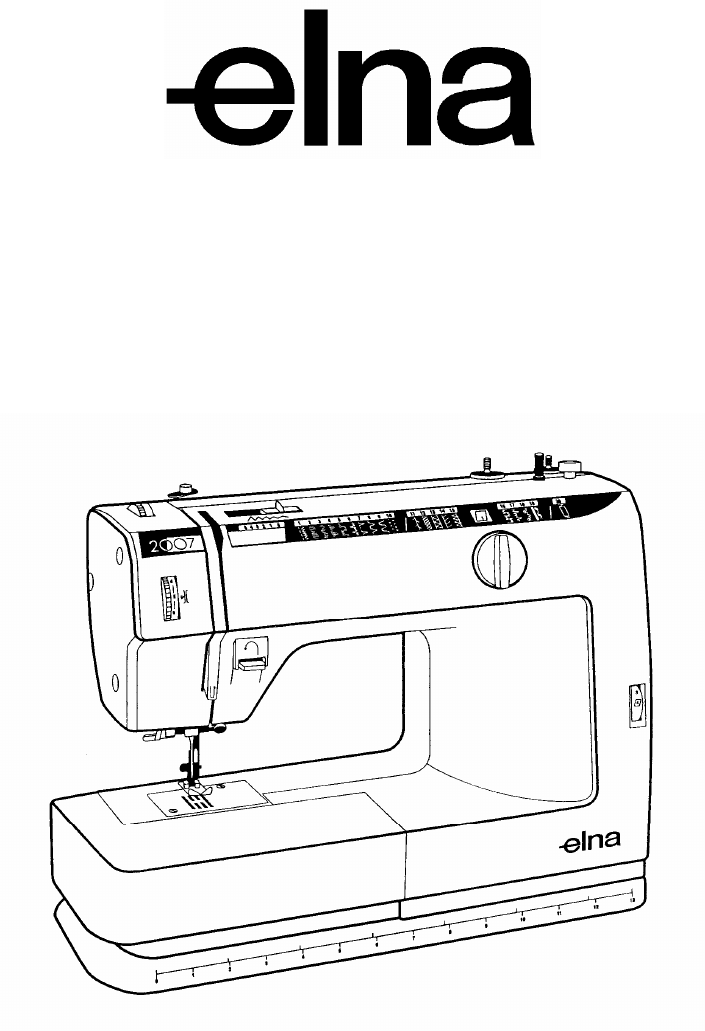 ELNA 2003 Sewing Machine Service manual PDF View/Download