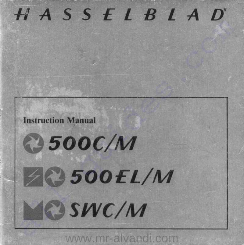 Hasselblad 500CM Digital Camera Instruction manual PDF