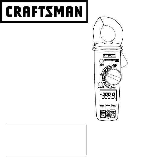 Craftsman 82369 Measuring Instruments Owner's manual PDF