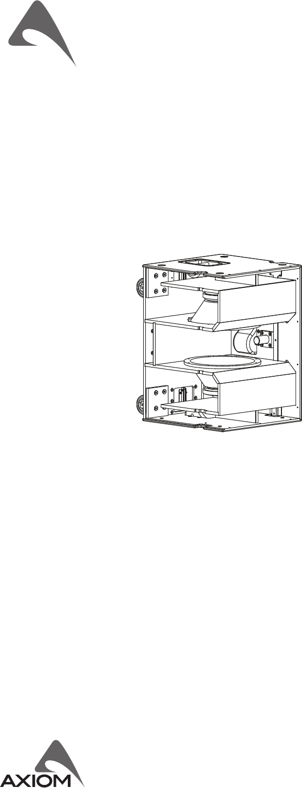 Axiom SW215P Subwoofer Operation & user's manual PDF View