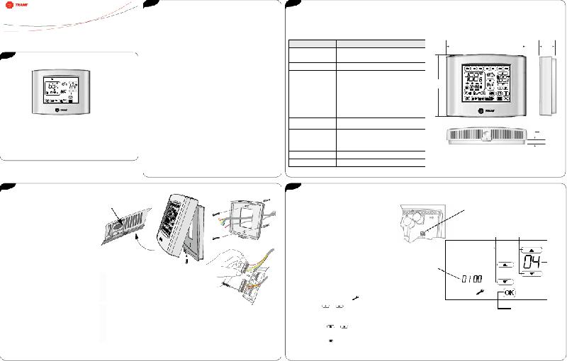 Trane X13511538010 Thermostat Installation/configuration