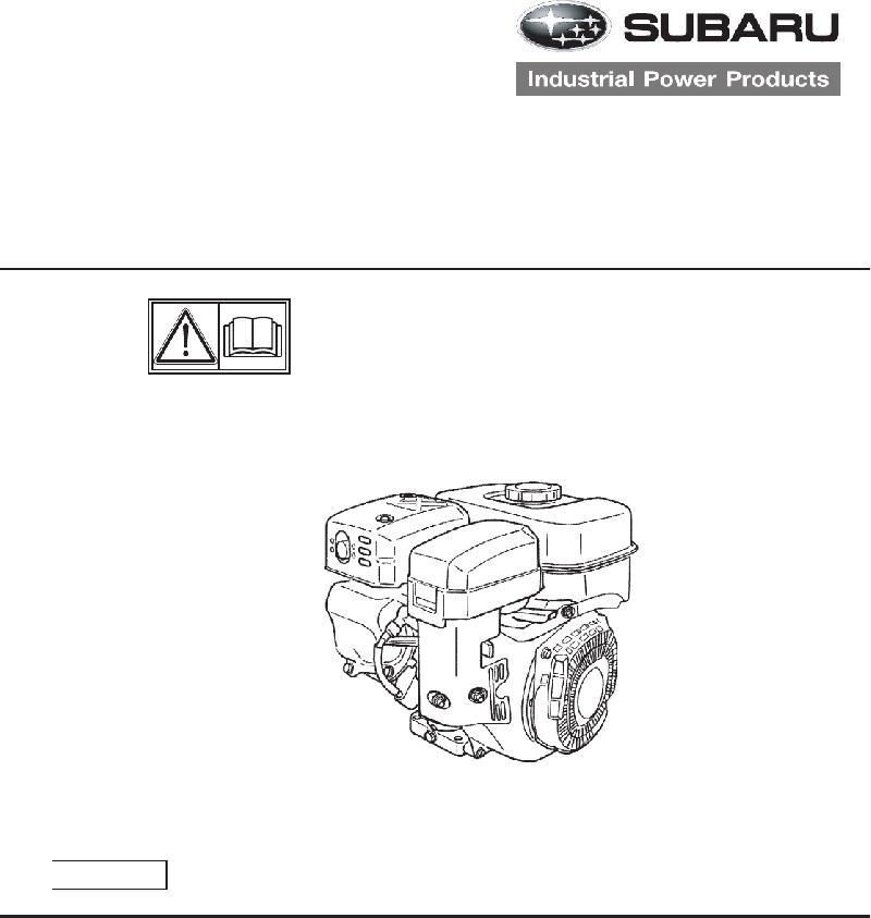 Subaru SP-210 Engine User manual manual PDF View/Download
