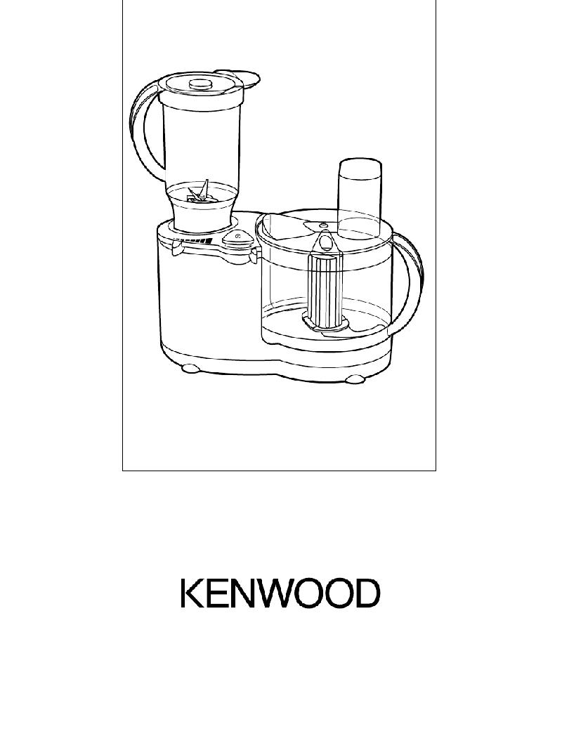 Kenwood FP670 series Juicer Instructions manual PDF View