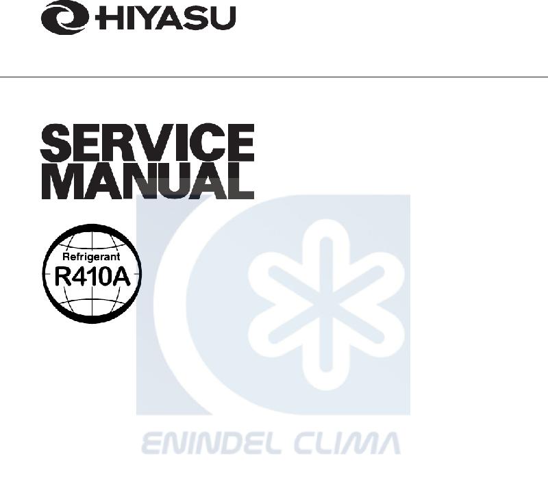 Hiyasu HOW-12FA Air Conditioner Service manual PDF View