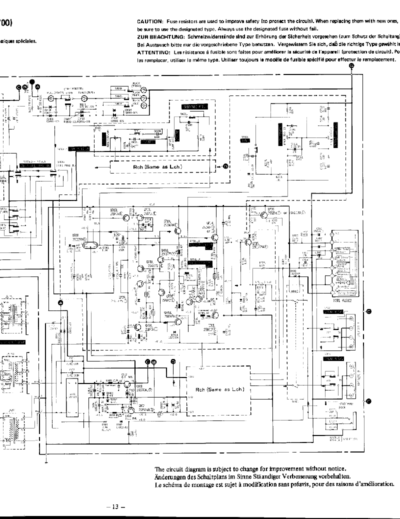 Hitachi HA-3700 Amplifier Service manual PDF View/Download