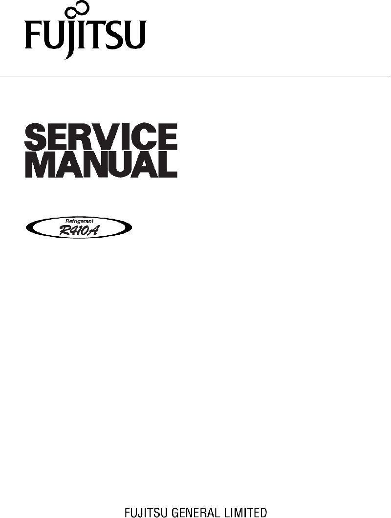 Fujitsu AOYA24LACL Heat Pump Service manual PDF View/Download