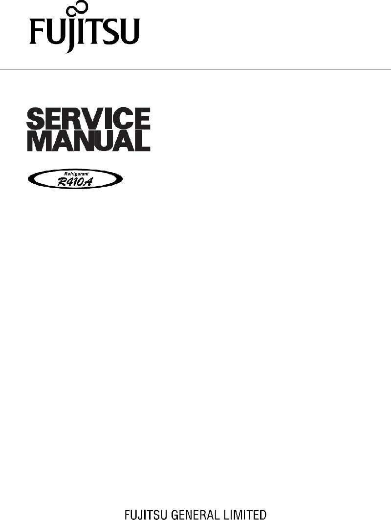 Fujitsu AOYA12LACL Heat Pump Service manual PDF View/Download