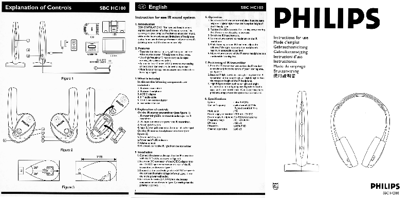 Philips SBC HC100 Stereo System Instructions for use PDF