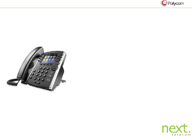 Polycom VVX 400 Telephone Quick start manual PDF View/Download