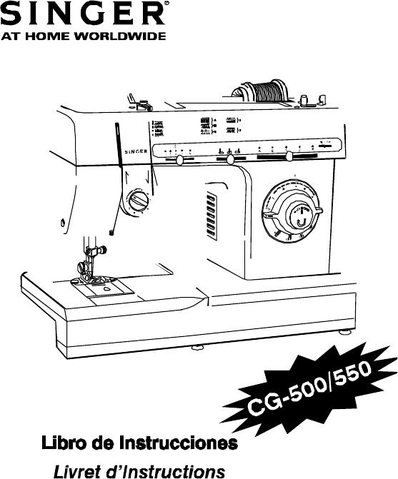 Singer CG-550 Sewing Machine Instruction book PDF View
