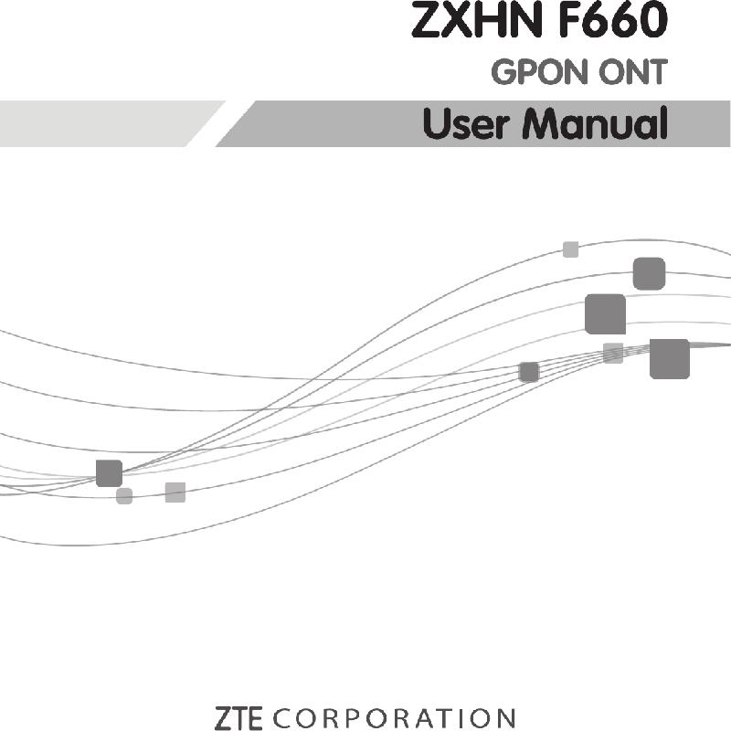 Zte ZXHN F660 Network Router Operation & user's manual PDF