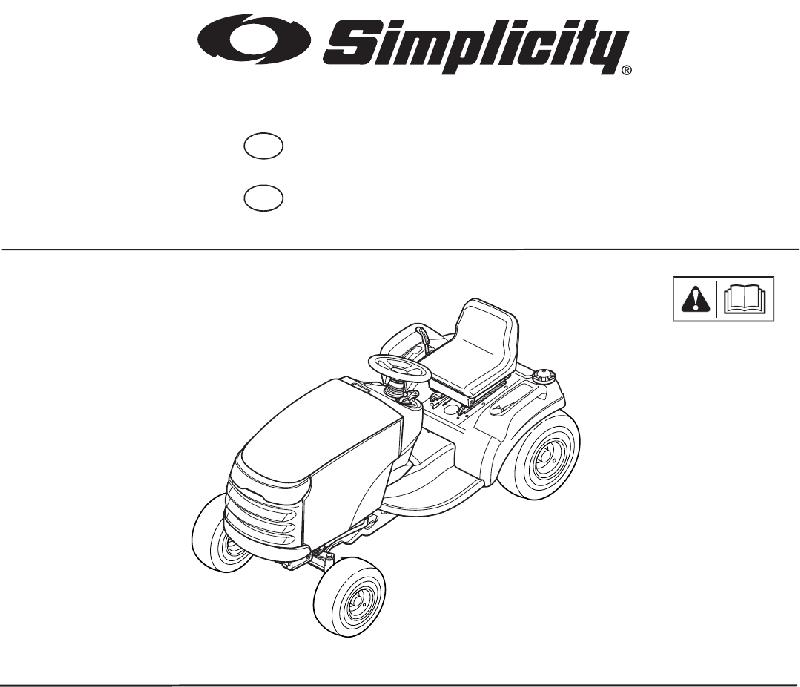 Simplicity Prestige Series Tractor Operator's manual PDF