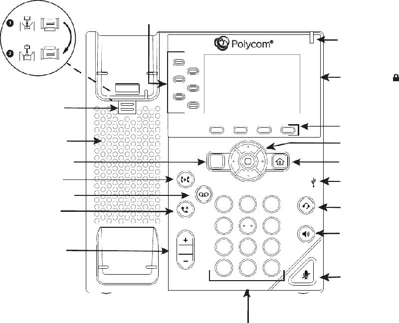 Polycom VVX-250 Series Telephone Quick start manual PDF