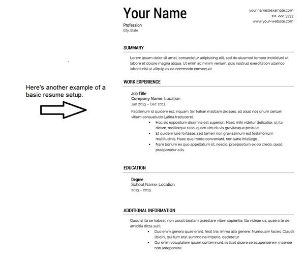 example of a stellar resume