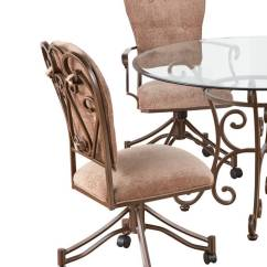 Bar Chairs With Arms And Backs Folding Chair Stand Callee - Valencia Tilt Swivel Dining (set Of 2)