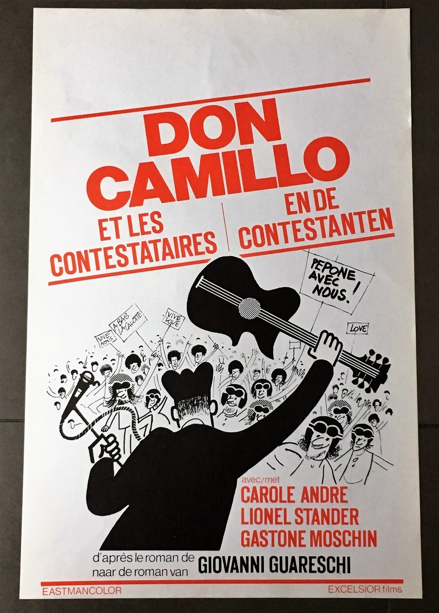Don Camillo Et Ses Contestataires : camillo, contestataires, CAMILLO, CONTESTATAIRES, Belgian, Movie, Poster, Store