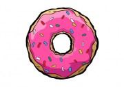 unhas de donut simpsons na
