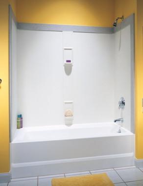 swan granite kitchen sinks backsplashes for kitchens swanstone ss-60-5 bathtub 5-panel wall kit - aggregate ...