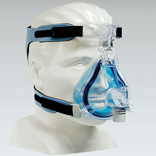 Philips Respironics Comfort Gel Blue Full Face CPAP Mask with Headgear - Breathe Easy CPAP