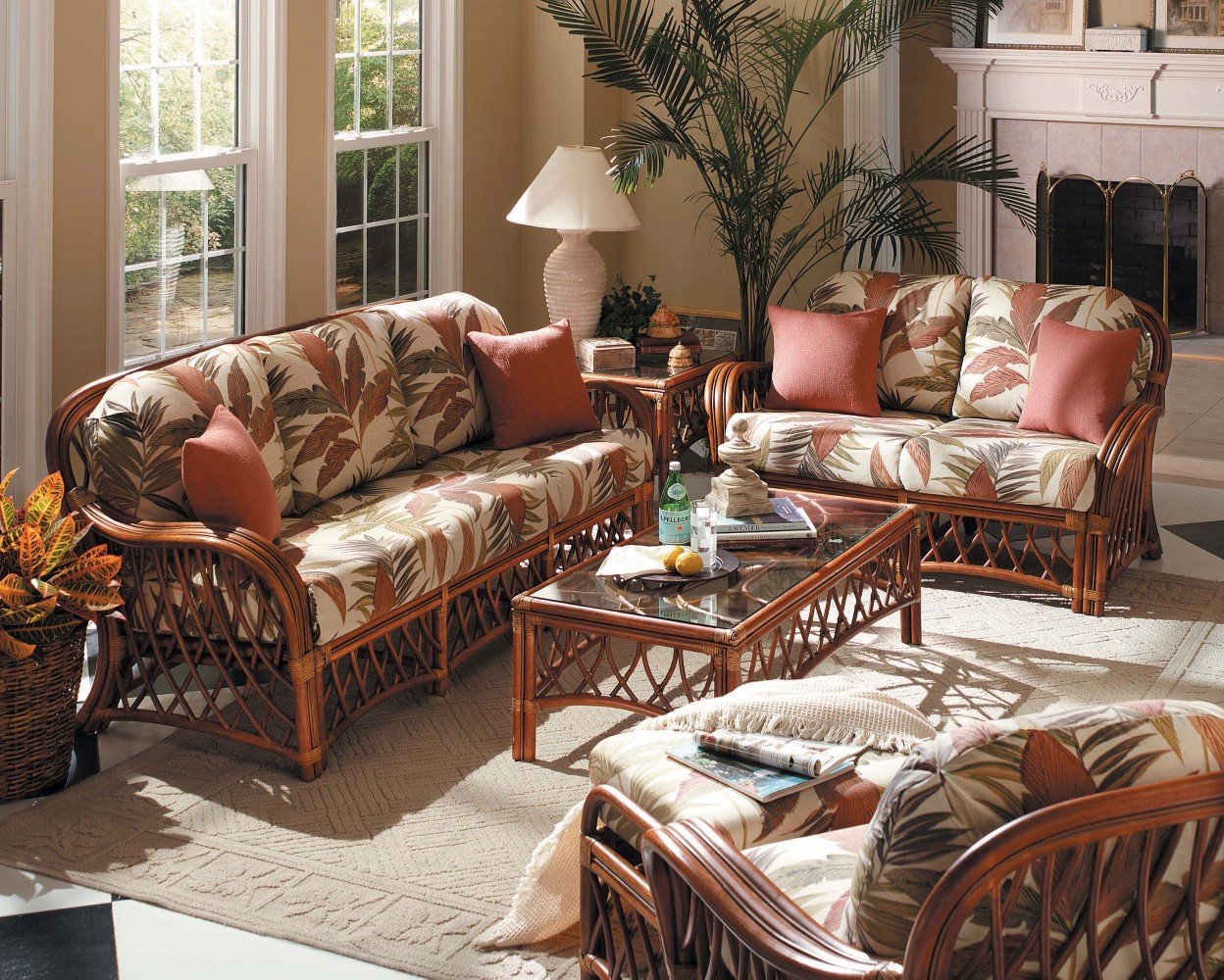 The living room is one of the most important areas in your house for a great hosting experience. South Sea Rattan Antigua Indoor Living Room Set - Modern ...