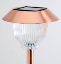 Copper Solar Path Lights Set of 12 Rockwell | Outdoor Yard ...