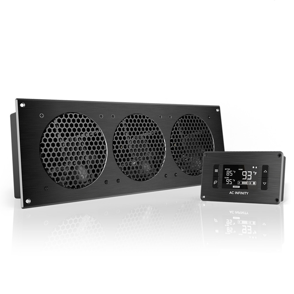AIRPLATE T9 Home Theater and AV Quiet Cabinet Cooling Fan