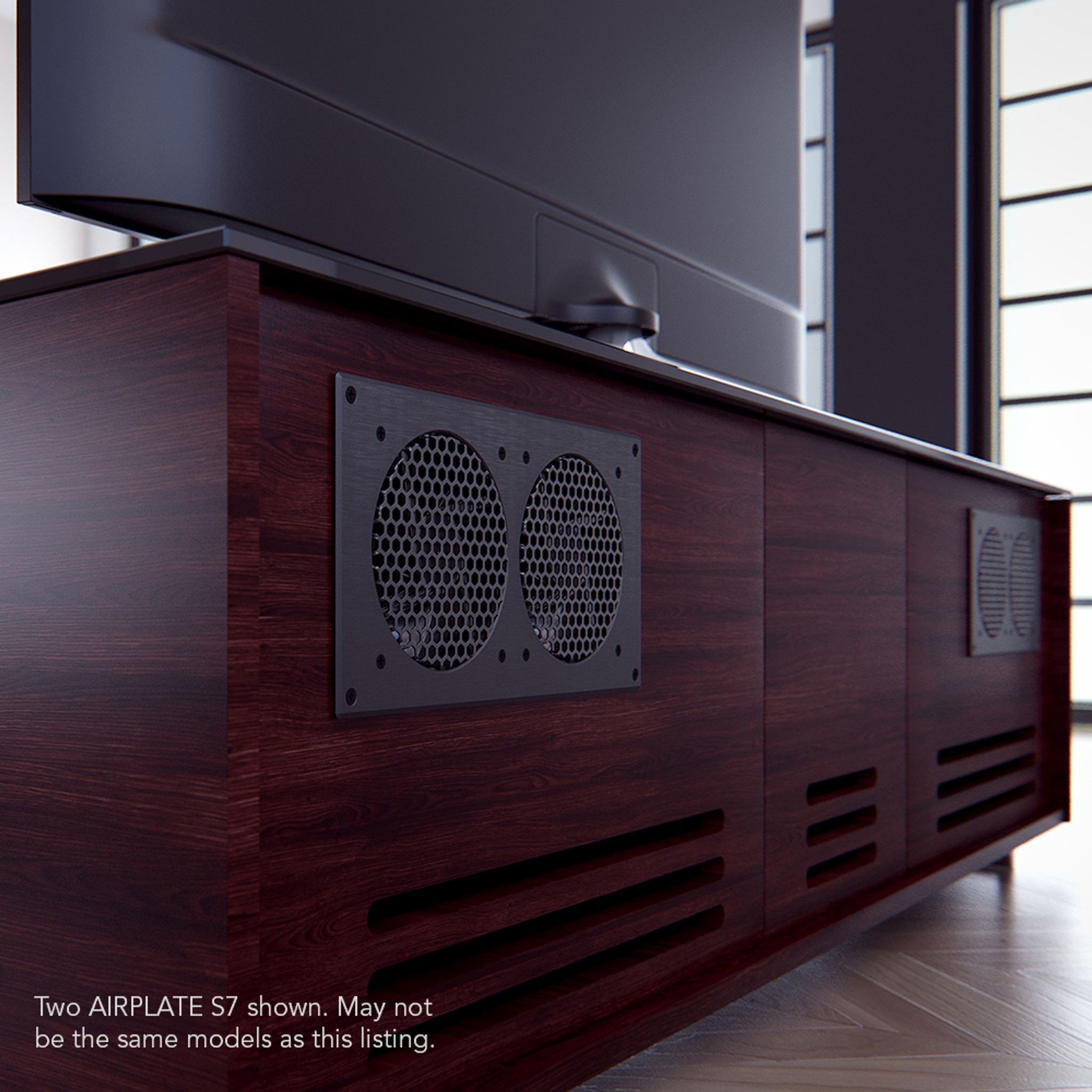 AIRPLATE S7 Home Theater and AV Quiet Cabinet Cooling Fan