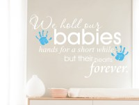 Baby Wall sticker Quote With Hand Prints ( Buy 2 get 3rd ...