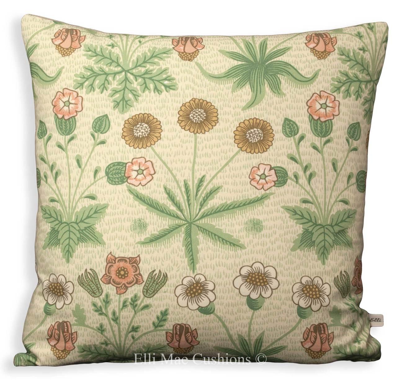 cream sofa throws uk small black william morris daisy designer fabric green