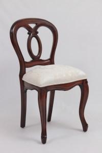 Victorian Balloon-Back Oval Chair   LaurelCrown