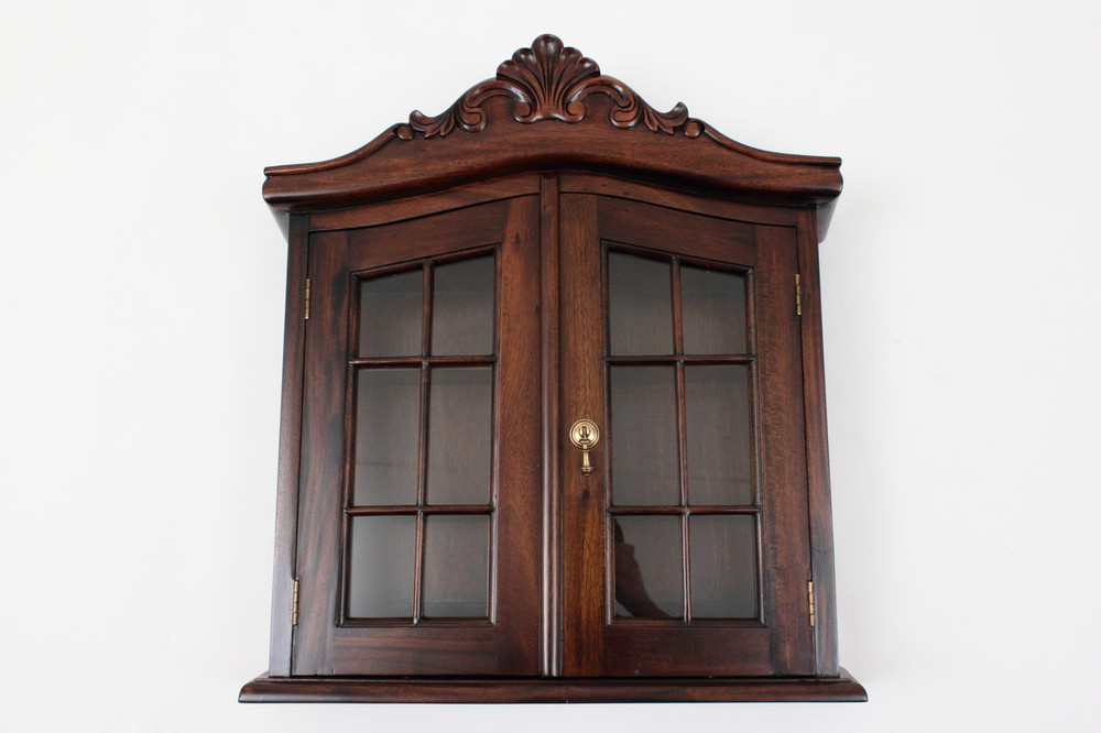 Antique Wall Cabinet Laurel Crown