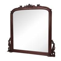Large Mahogany Mantel Mirror | Laurel Crown