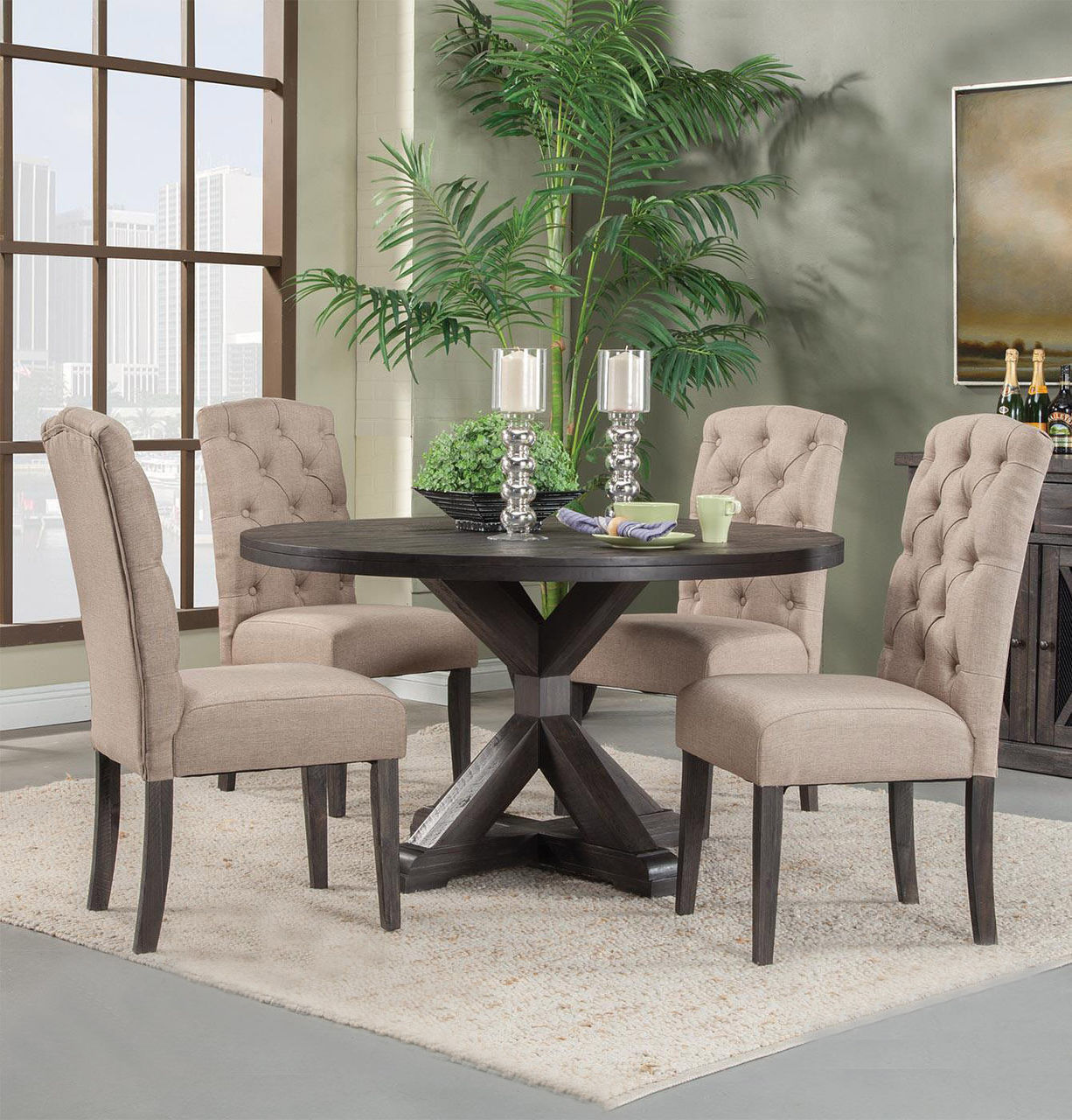 circle table and chair set glass pub chairs fall trend rustic dining sets www