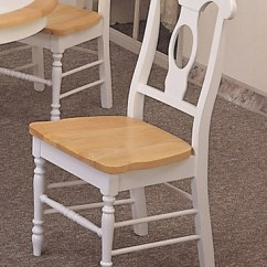 Best Buy Computer Chairs West Elm Everett Chair 2 White Napoleon Wood Kitchen W/ Natural Finish Seat