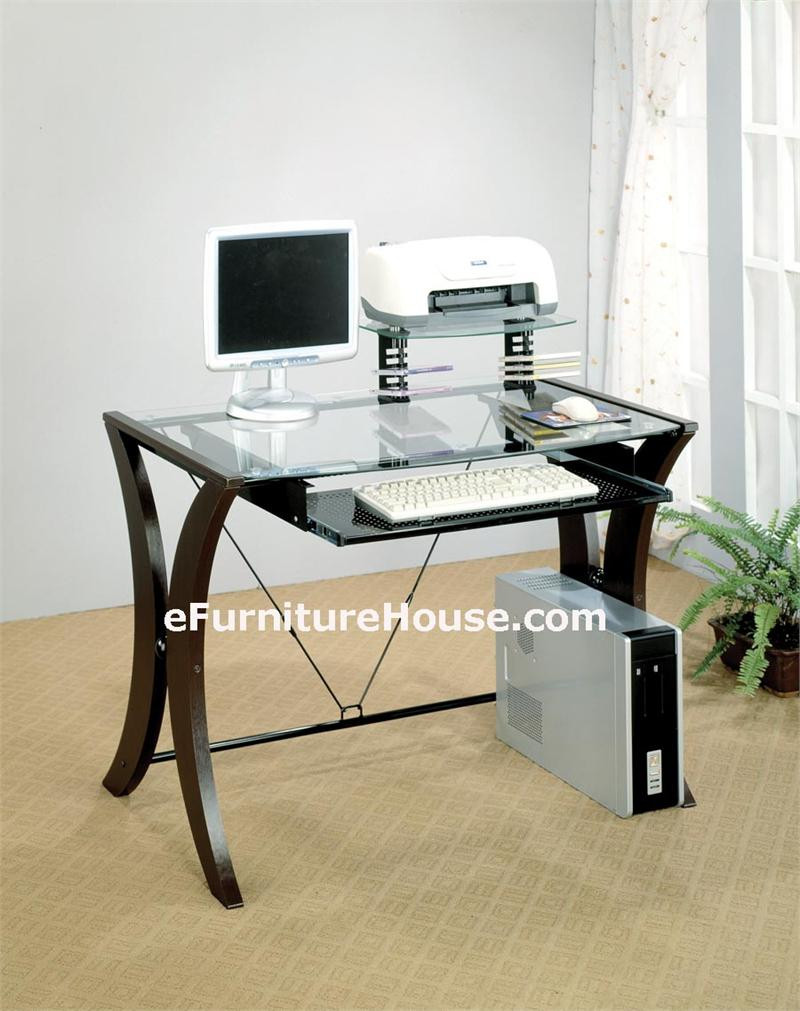 Modern Computer Desk Home Office Desks Glass