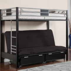 Sofa Bed Bunk Beds Sofas Com Uk Silver And Black Metal Twin Futon For Sale