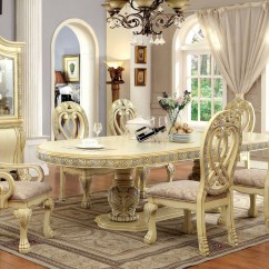 Alibaba Royal Chairs Chair Cover Rentals Essex 112 Quot Versailles Antique White Formal Dining Table Set