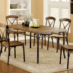 See Through Dining Chairs Upholstered Office Chair On Wheels Ricciardo Industrial Wooden Bronze Table Set