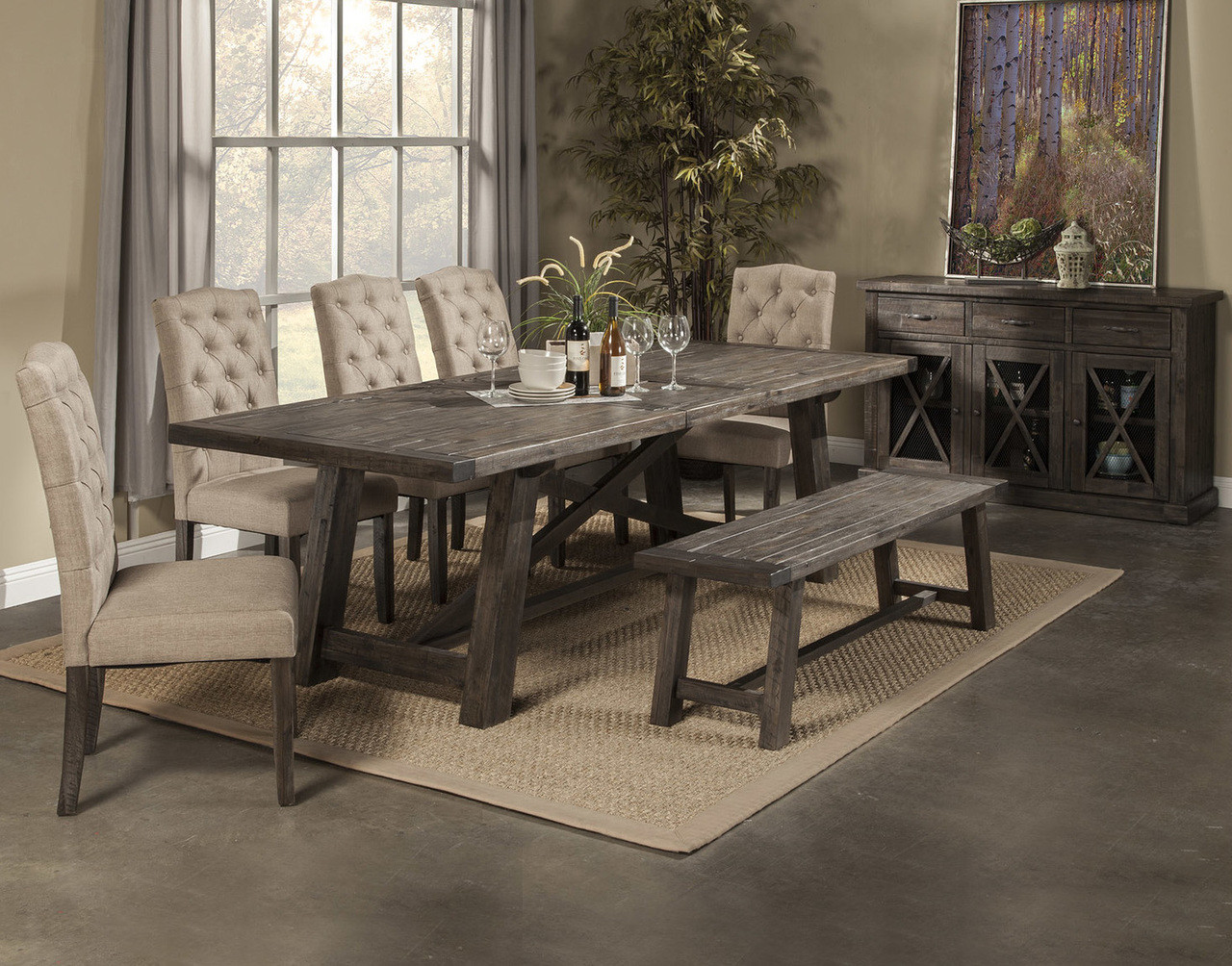 Dining Table With Bench And Chairs Newberry Dining Table With 4 Chairs And Bench