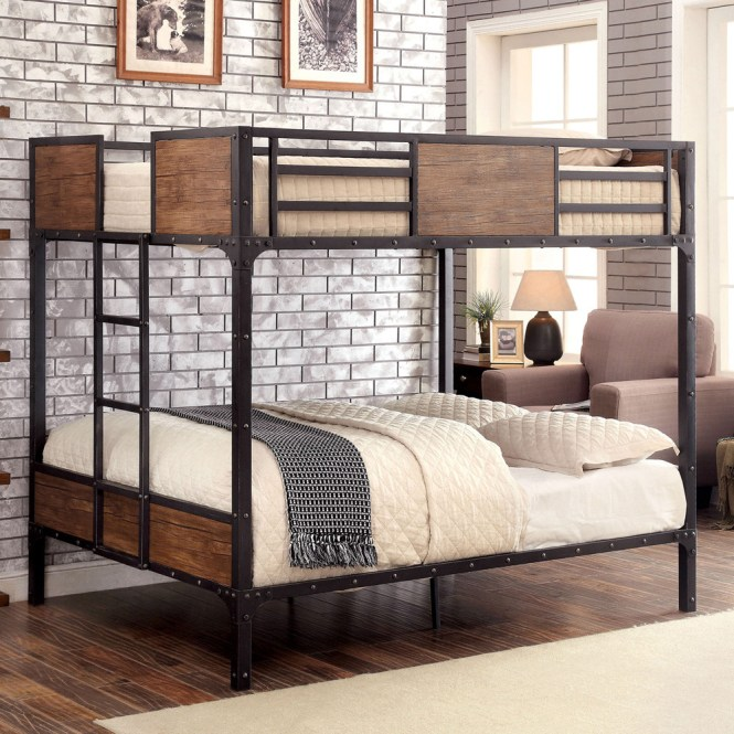 Austin Inspired Metal Full Size Bunk Bed Beds
