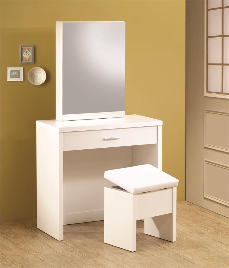 Taylor White Vanity Desk Set Makeup With Mirror